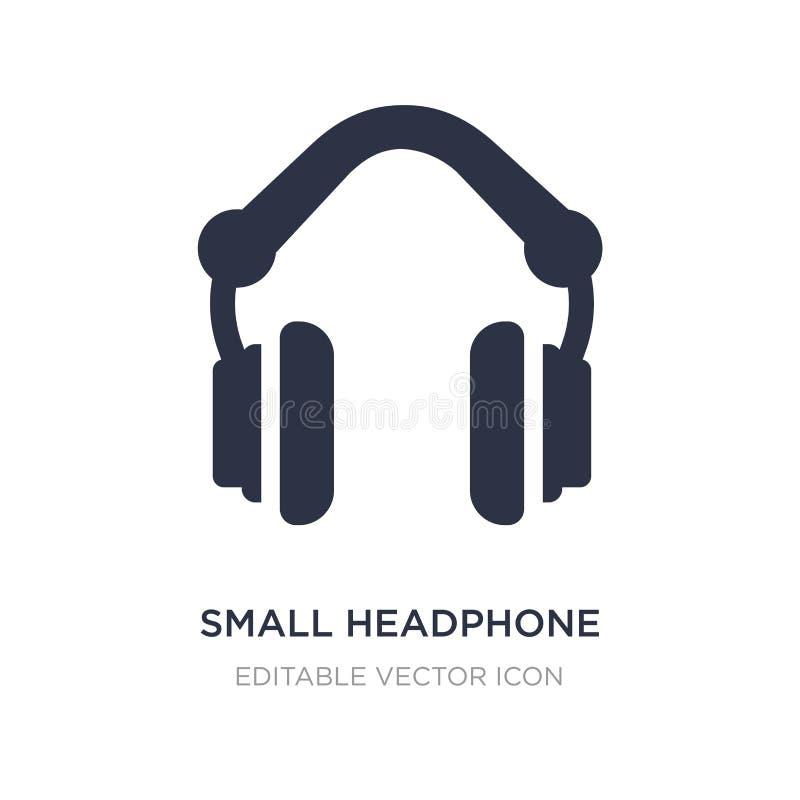 petite icône d'écouteur sur le fond blanc Illustration simple d'élément de notion générale illustration libre de droits