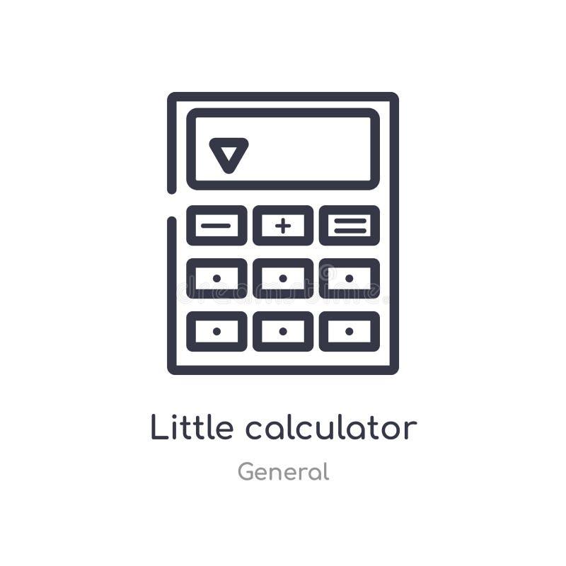 petite icône d'ensemble de calculatrice ligne d'isolement illustration de vecteur de la collection g?n?rale petite calculatrice d illustration stock