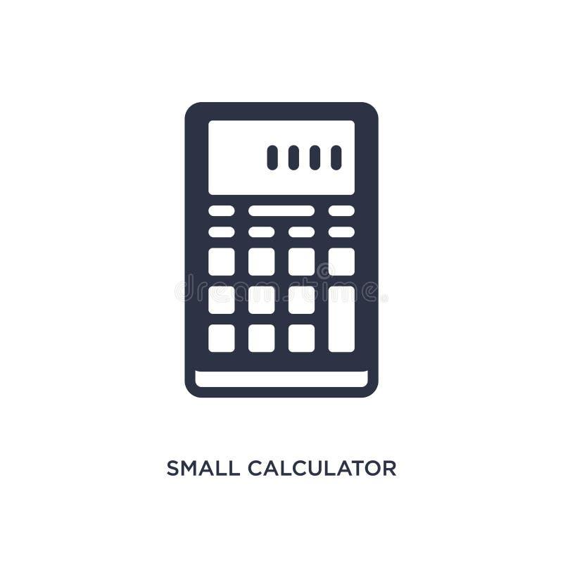 petite icône de calculatrice sur le fond blanc Illustration simple d'élément de concept d'éducation illustration de vecteur