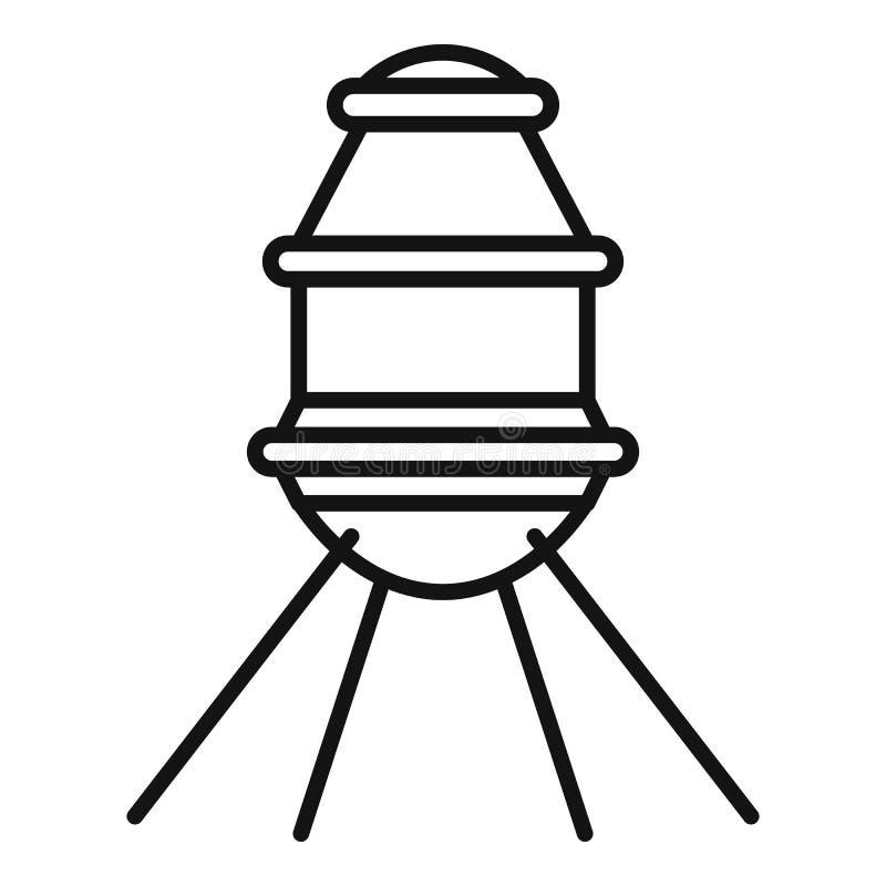 Petite icône de capsule d'espace, style d'ensemble illustration libre de droits