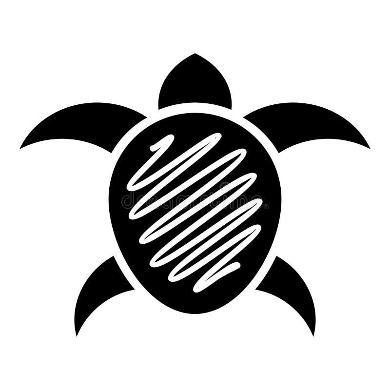 Petite icône de tortue, style simple illustration stock