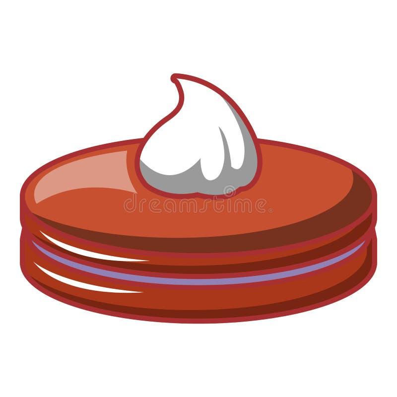 Petite icône noire de gâteau, style de bande dessinée illustration de vecteur