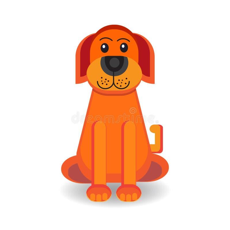Petite image mignonne de vecteur de chien de bande dessinée photo libre de droits