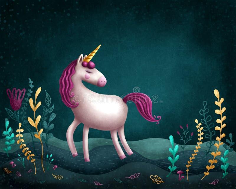 Petite licorne illustration de vecteur