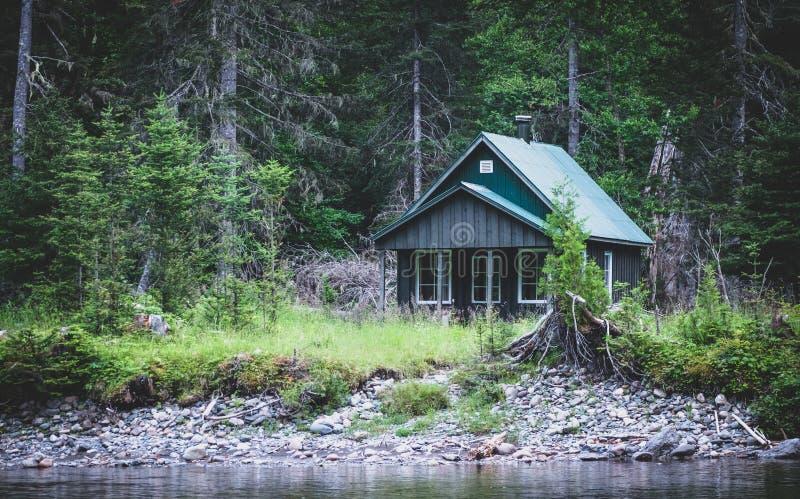 Petite loge de forêt photo libre de droits