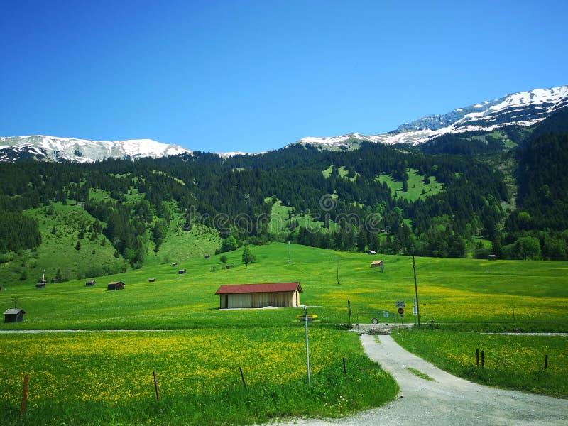 Petite maison dans les Alpes autrichiens images libres de droits
