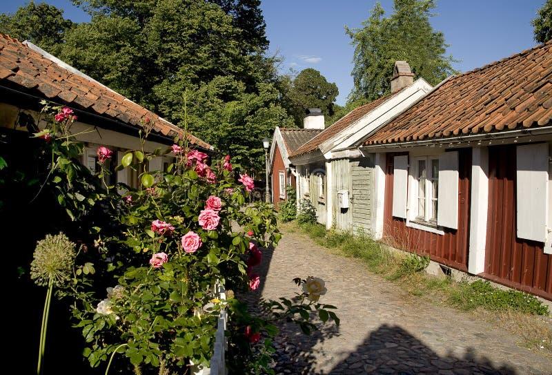 Petite maison dans vieux Kalmar photo stock