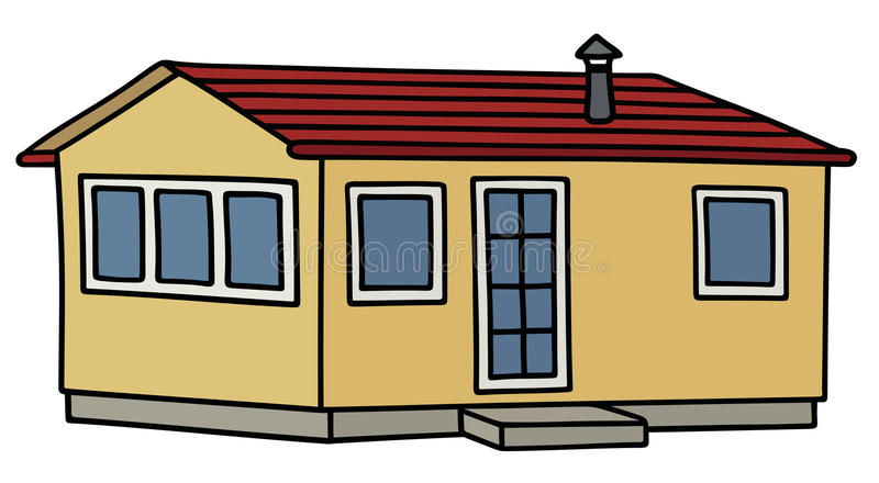 Petite maison drôle illustration de vecteur