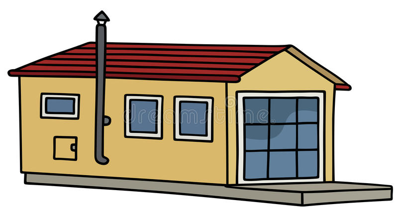 Petite maison drôle illustration stock