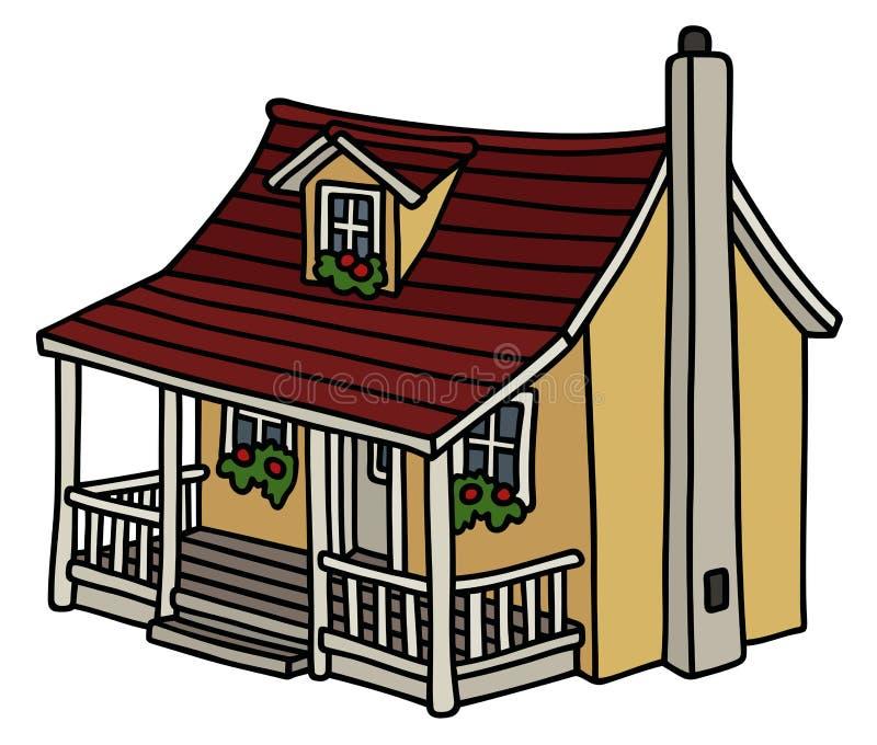 Petite maison jaune illustration libre de droits