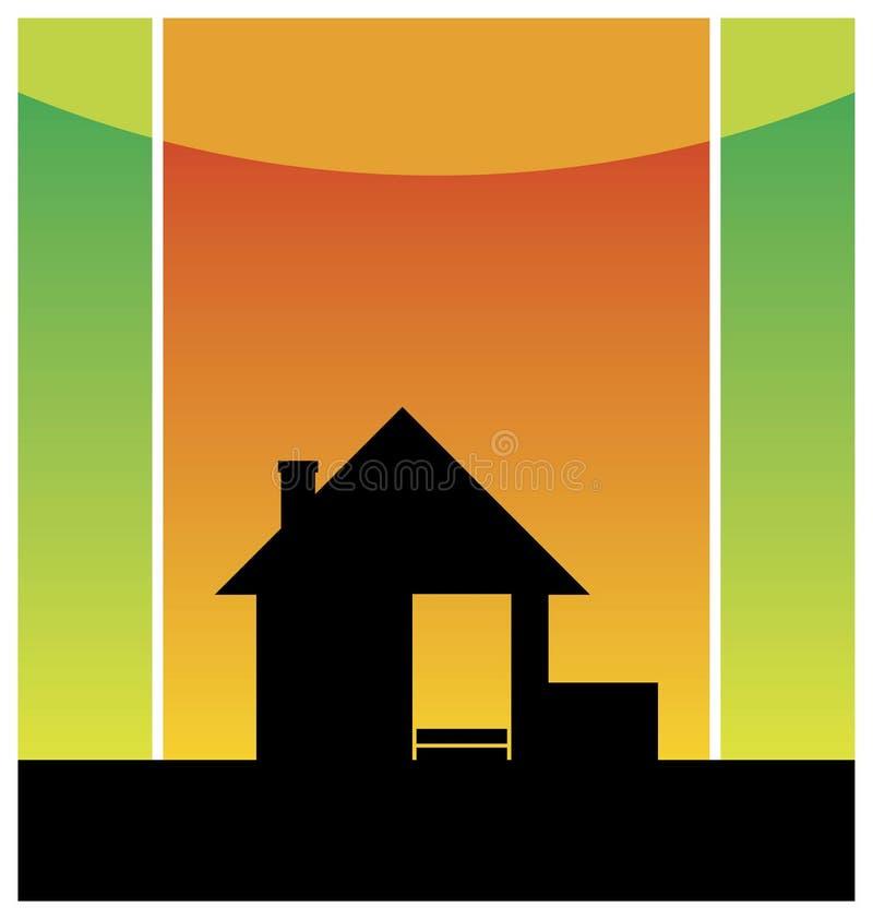 Petite maison neuve 2 illustration de vecteur for Prix petite maison neuve