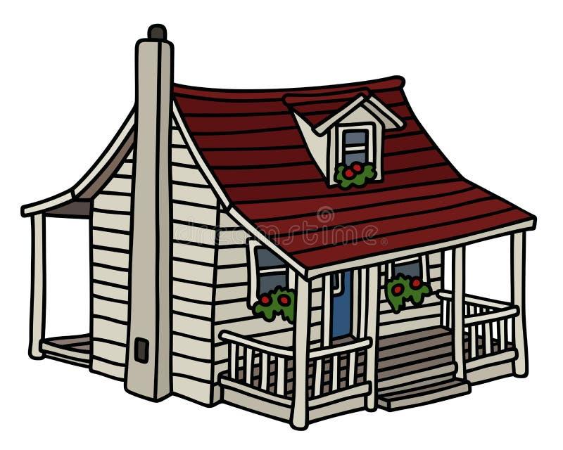 Petite maison planked par blanc illustration libre de droits