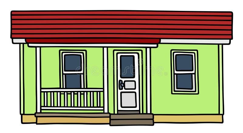 Petite maison verte illustration libre de droits