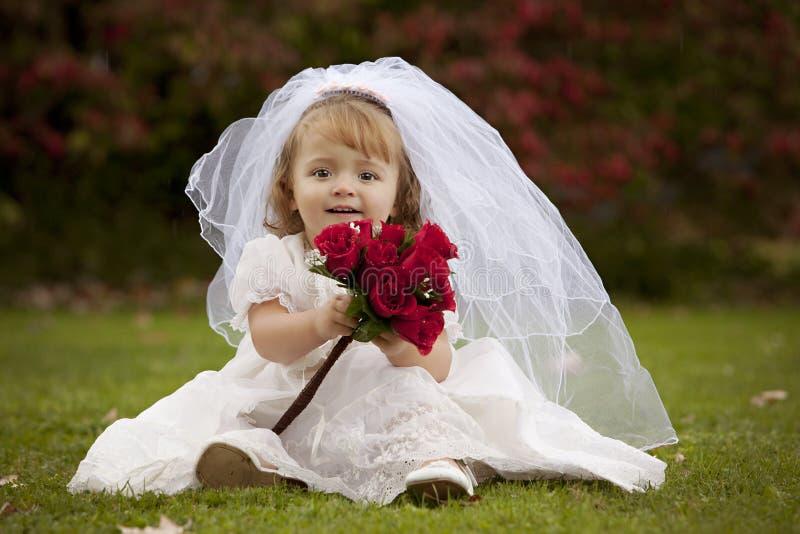 Petite mariée photo libre de droits