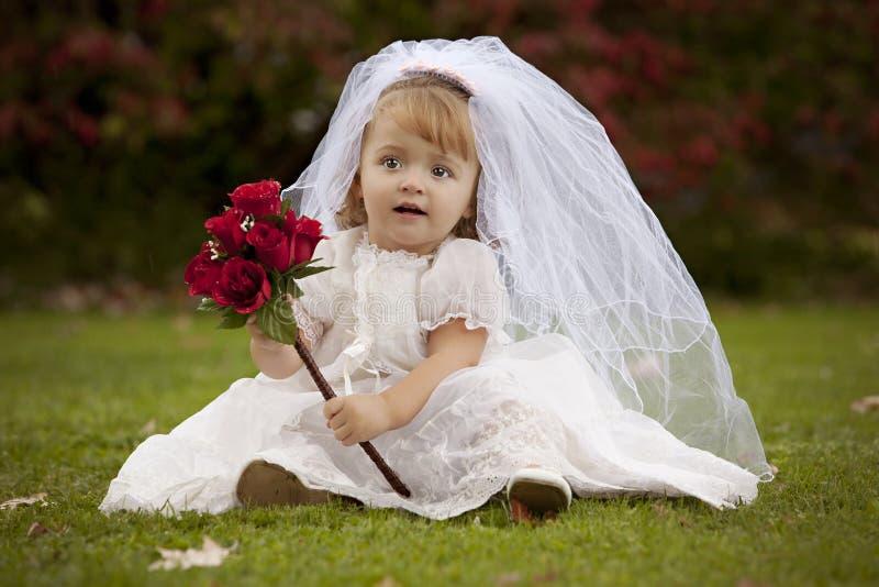 Petite mariée image libre de droits