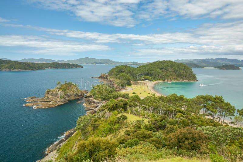 Petite péninsule dans la baie des îles image stock