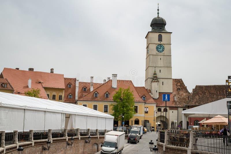 Petite place et la tour du Conseil photos stock