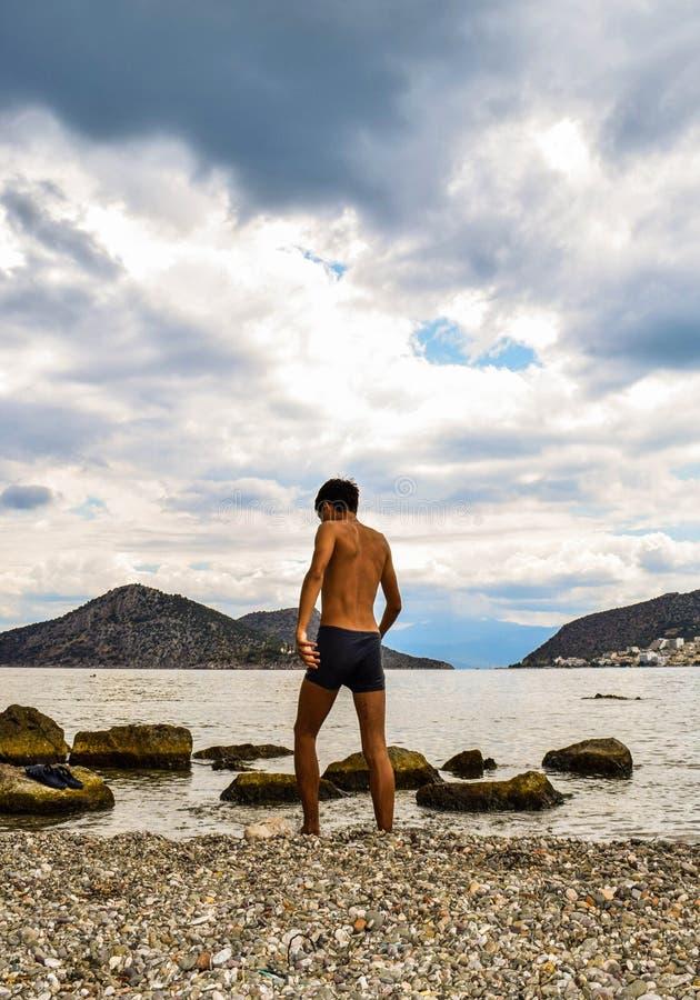 Petite plage d'Asini images libres de droits