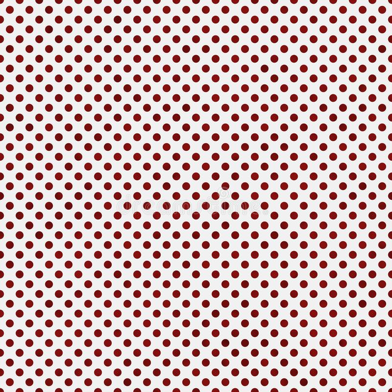 Petite polka rouge et blanche Dots Pattern Repeat Background photos stock