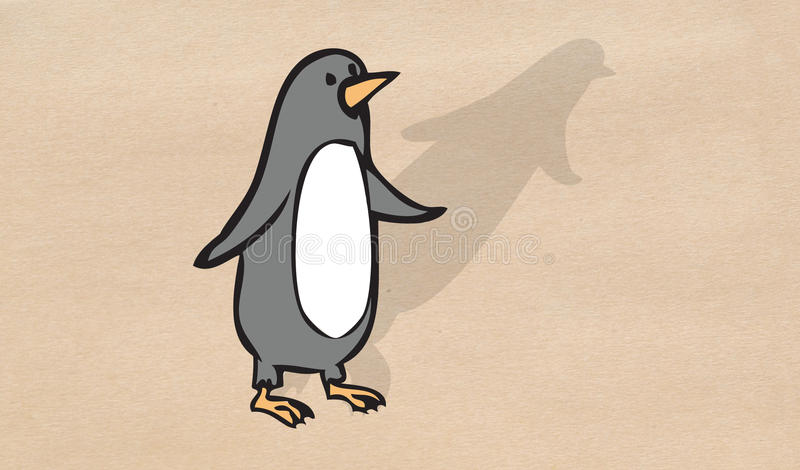 Petite position de pingouin illustration libre de droits