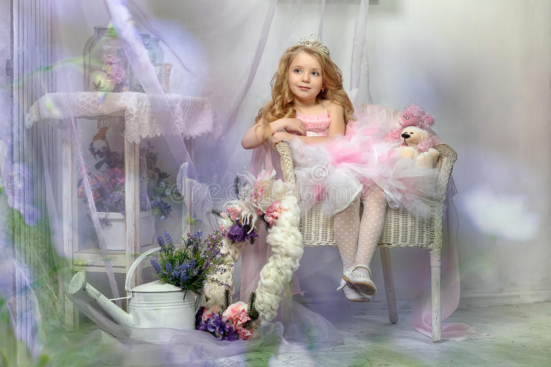 Petite princesse dans le rose photos libres de droits