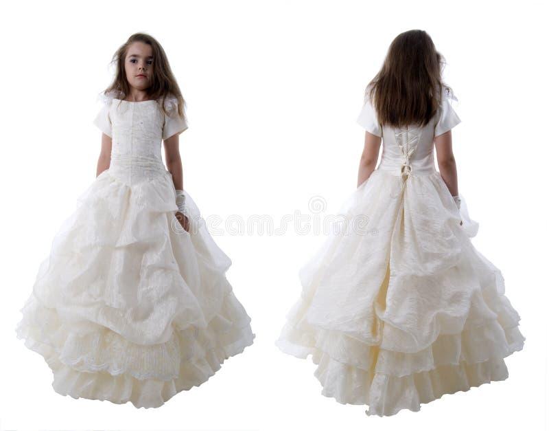 Petite princesse de mariée. photographie stock libre de droits