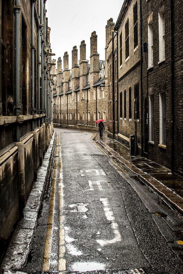 Petite rue arrière à Cambridge photo stock