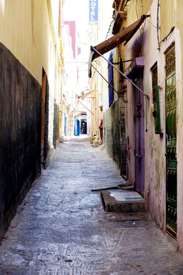 Petite rue au Maroc, Afrique images stock