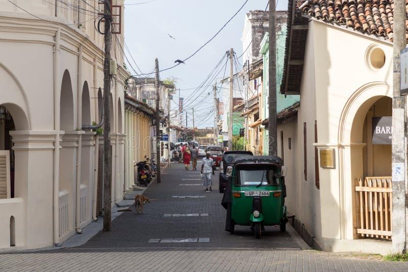 Petite rue dans le fort de Galle, Sri Lanka image libre de droits
