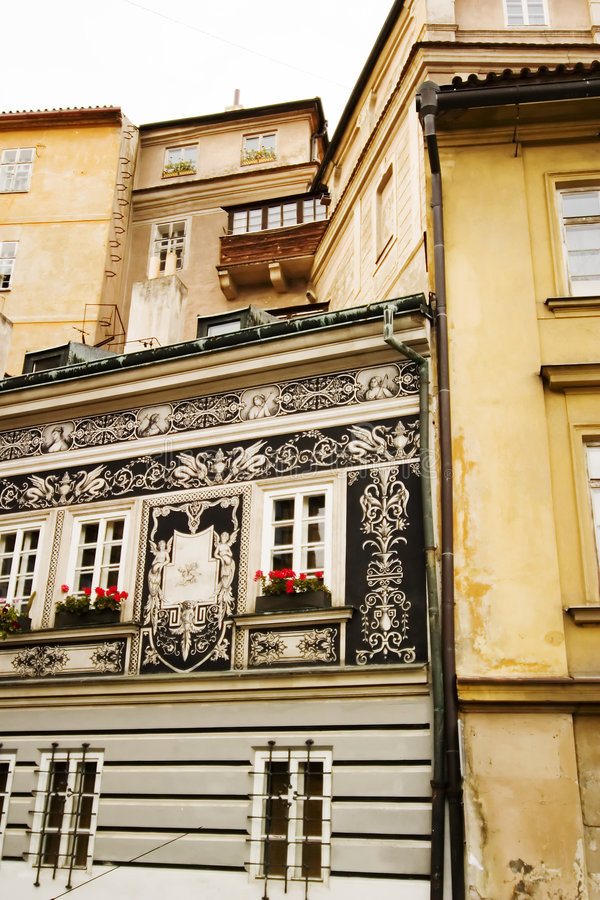 Petite rue - Prague image libre de droits
