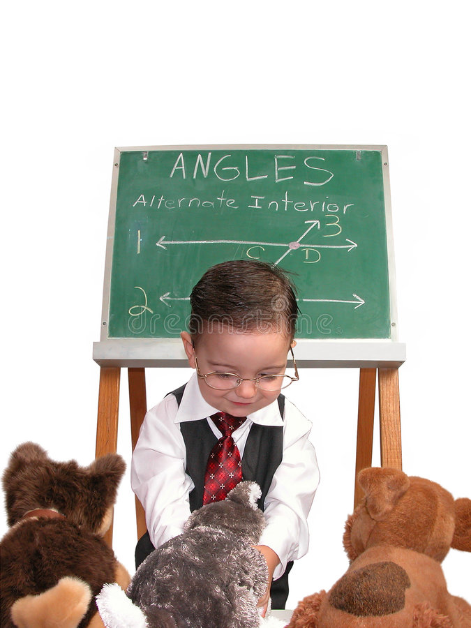 Petite série d'homme : L'animal familier du professeur image libre de droits