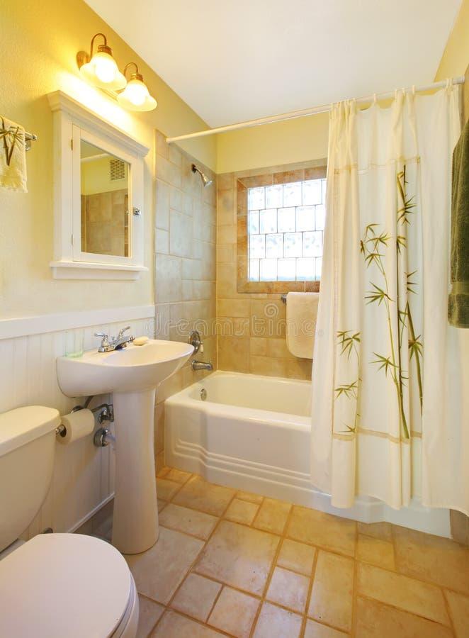 Petite salle de bains avec la douche blanche moderne images libres de droits image 23666419 for Petite salle bain moderne