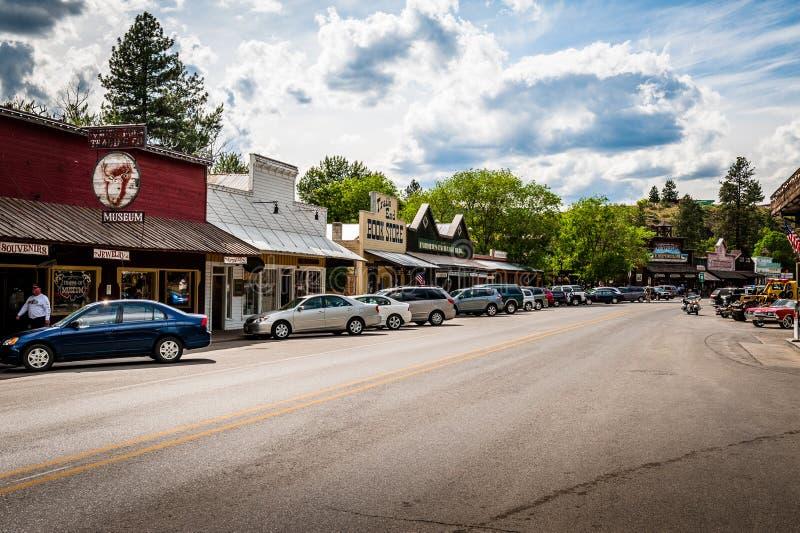 Petite scène occidentale de rue de ville de Winthrop image libre de droits