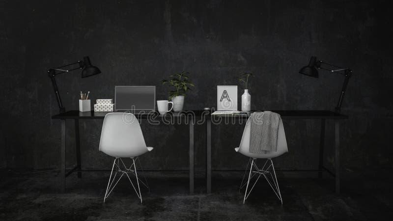 Petite table moderne de bureau et d'écriture illustration libre de droits