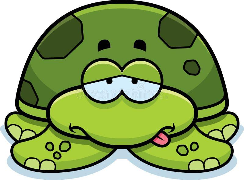 Petite tortue de mer malade illustration libre de droits