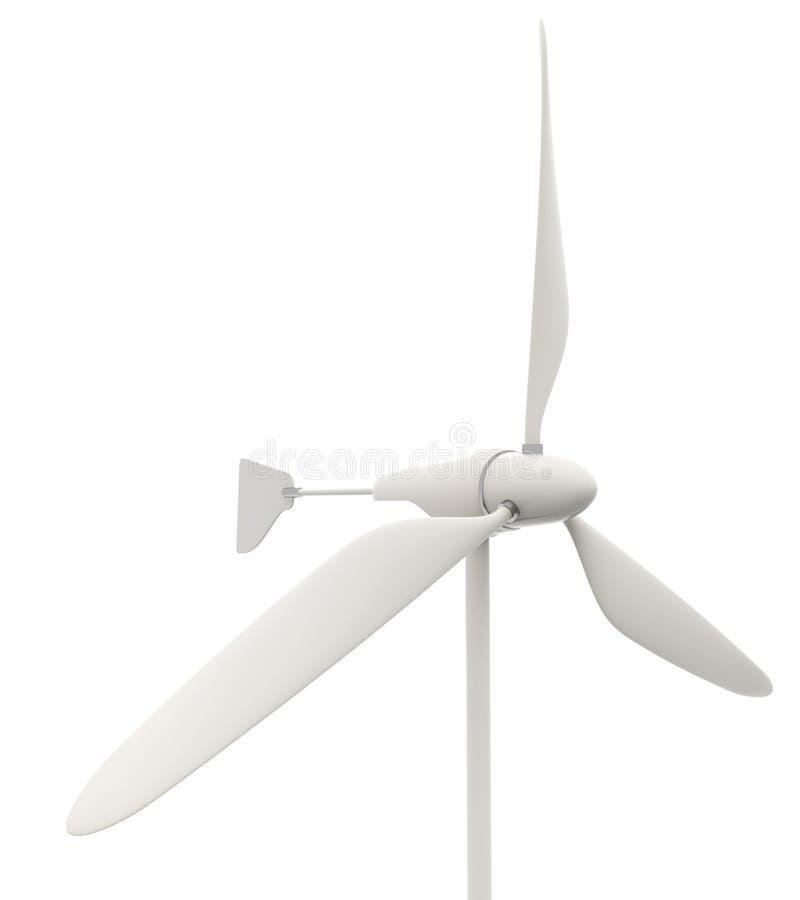 Petite turbine de vent sur le fond blanc illustration libre de droits