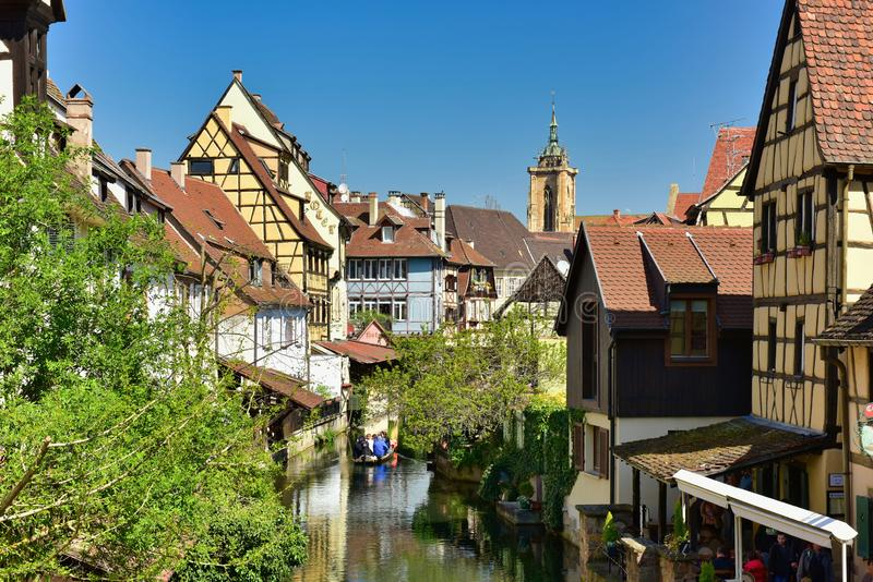 Petite Venise de Colmar Ville région de Colmar, Alsace, France photo stock