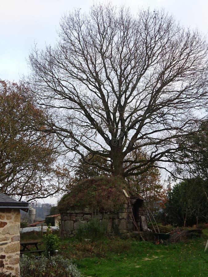 Petite vieille grange en pierre dans la campagne française image libre de droits