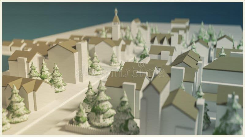 Petite ville illustration de vecteur