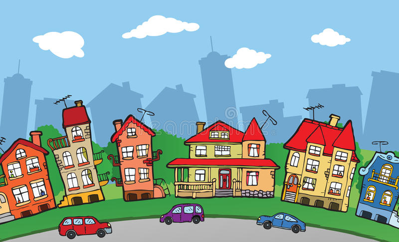 Petite ville illustration libre de droits