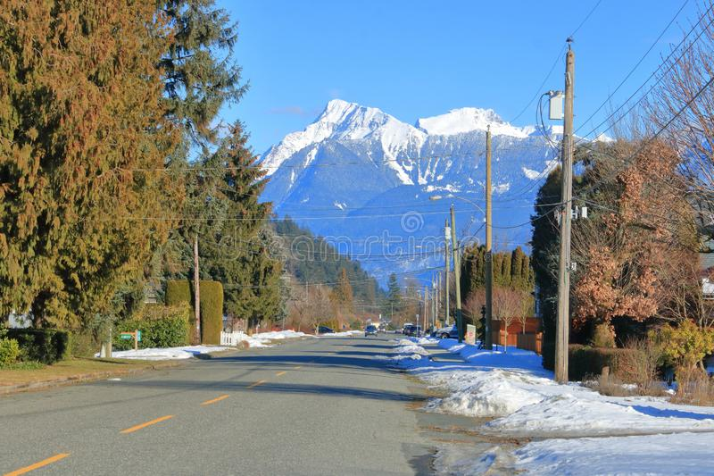 Petite ville Canada sur la côte ouest du Canada image libre de droits