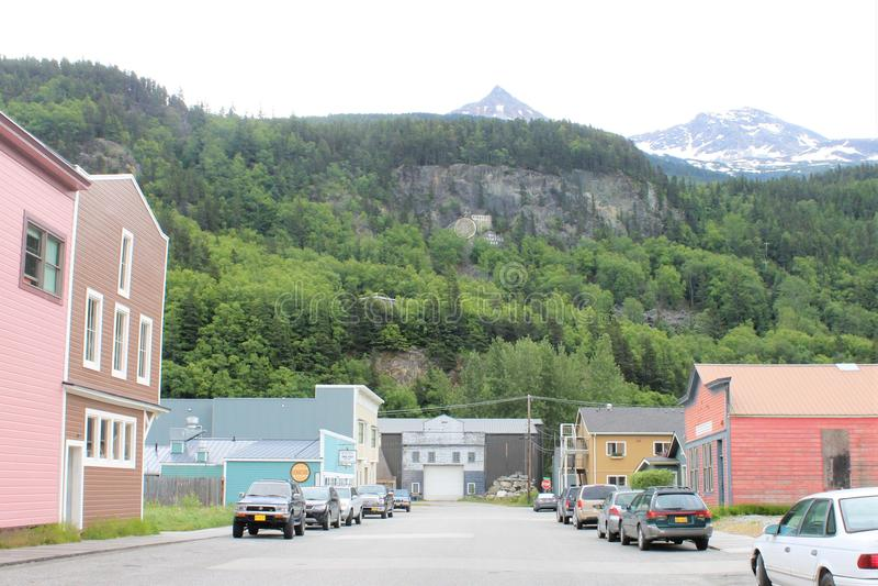 Petite ville de Skagway Alaska photographie stock
