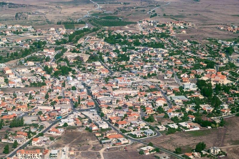Petite ville en Chypre photo stock