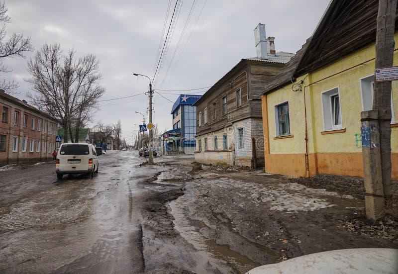 Petite ville russe photo stock