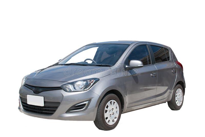 Petite voiture grise d'isolement photographie stock libre de droits