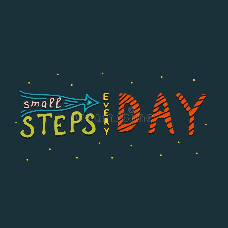 Petites étapes chaque copie de jour illustration de vecteur
