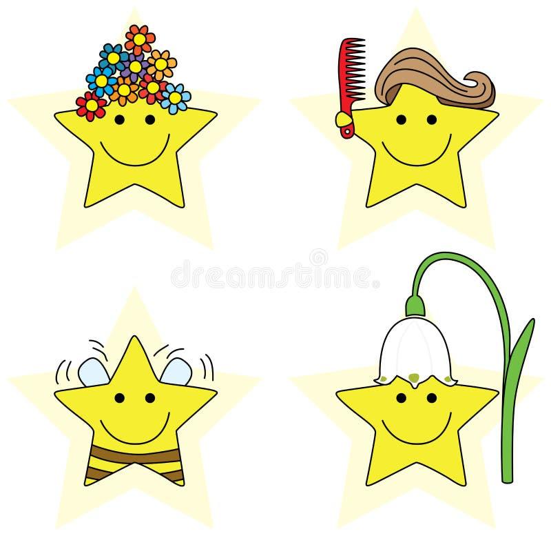 Petites étoiles illustration libre de droits