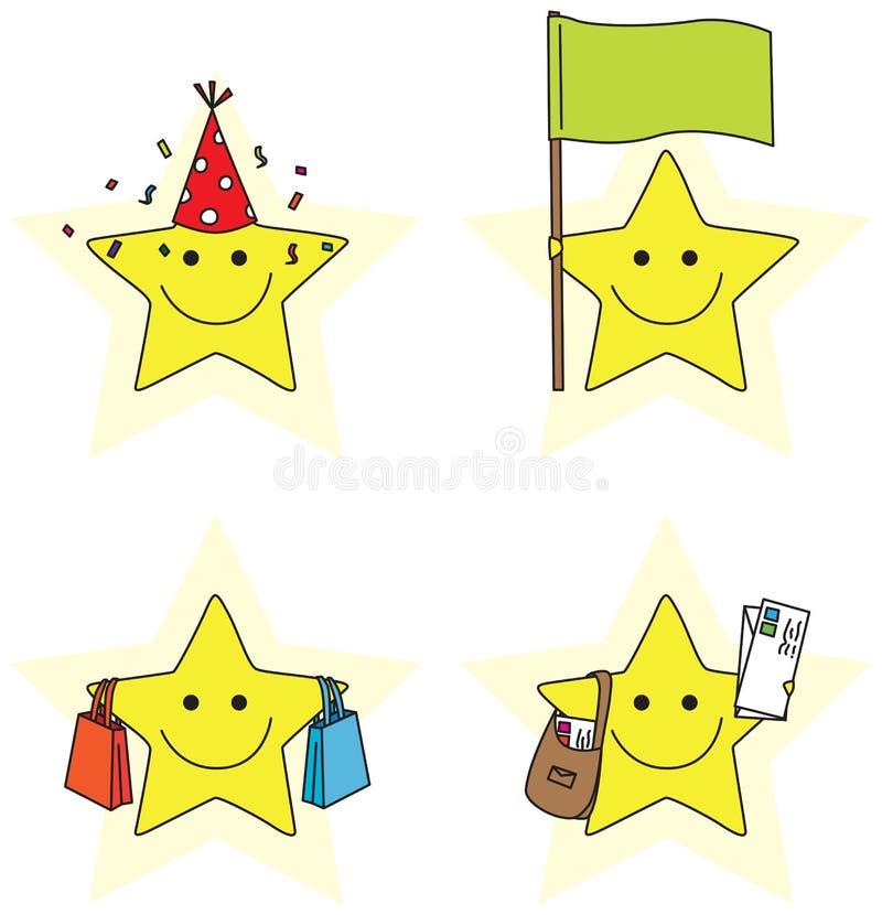 Petites étoiles illustration stock