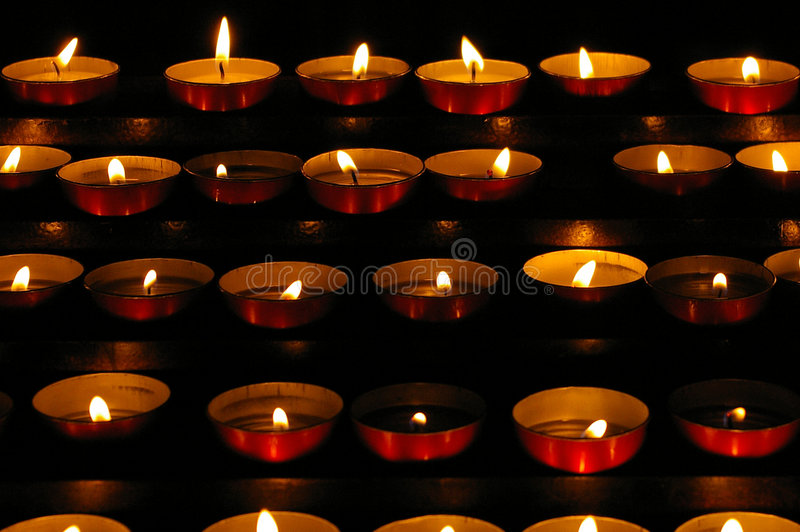 Petites bougies photographie stock