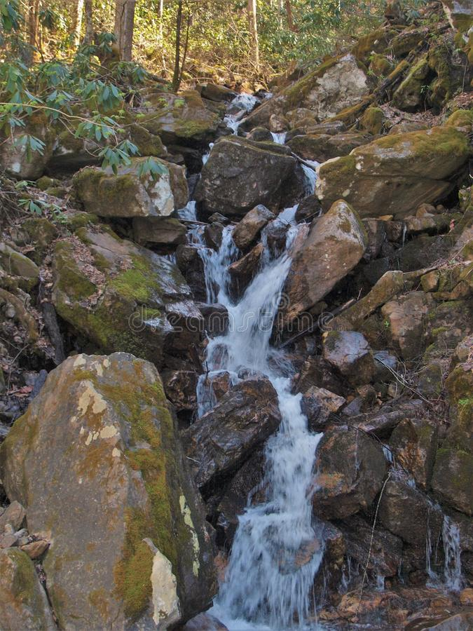 Petites cascades à la roche d'épine dorsale photo libre de droits